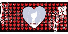 Red Heart Handled Magic Mug Personalized with photo Design 50
