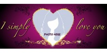 Red Heart Handled Magic Mug Personalized with photo Design 90