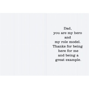 Personalized Fathers Day Greeting Card 003 backview