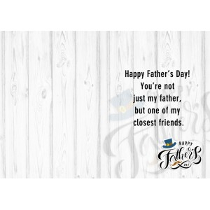 Personalized Fathers Day Greeting Card 004 backview