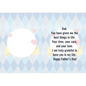 Personalized Fathers Day Greeting Card 005 backview