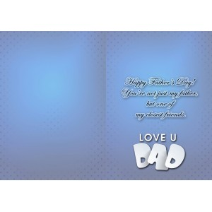 Personalized Fathers Day Greeting Card 006 backview