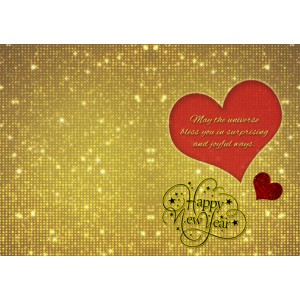 Personalized New Year Greeting Card for loved one 020 backview