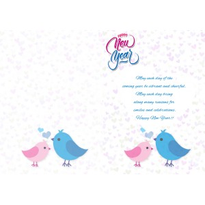 personalized new year greeting card for girl friend 019 backview