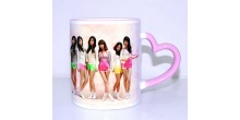 Mug design 10 Pink Heart Handle Mug