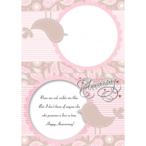 Personalized Anniversary Greeting Card 011 backview