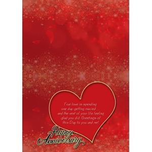 Personalized Anniversary Greeting Card 013 backview
