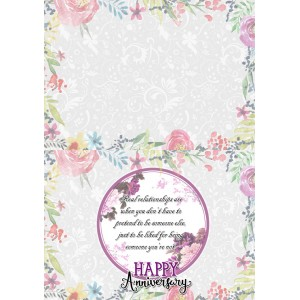 Personalized Anniversary Greeting Card 014 backview