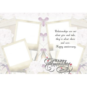 Personalized Anniversary Greeting Card 017 backview