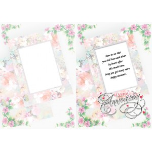 Personalized Anniversary Greeting Card 019 backview