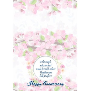 Personalized Anniversary Greeting Card 020 backview