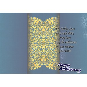 Personalized Anniversary Greeting Card 021 backview