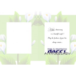 Personalized Anniversary Greeting Card 024 backview