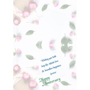 Personalized Anniversary Greeting Card 025 backview