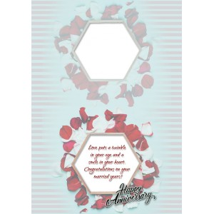 Personalized Anniversary Greeting Card 027 backview