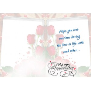 Personalized Anniversary Greeting Card 028 backview