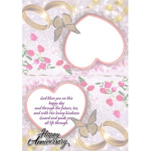 Personalized Anniversary Greeting Card 029 backview