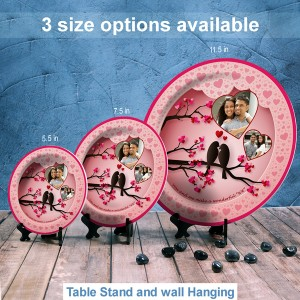 Decorative Round Plate Design Love Birds backview