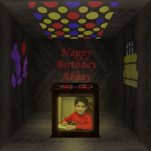 Birthday Wooden Shadowbox 01