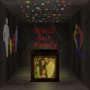 Family Wooden Shadowbox 02