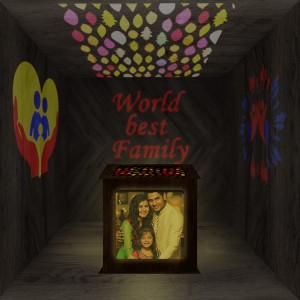Family Wooden Shadowbox 03