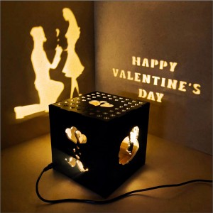 Propose Couple Wooden Shadowbox