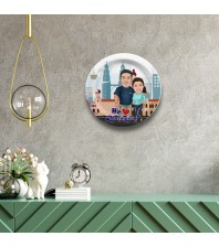 Malaysia Couple decor wall plate with table stand