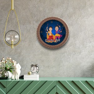 Dandiya special decor wall plate with table stand