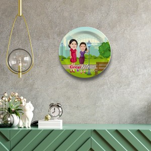 Great Mom and Daughter wall Decor plate with table stand