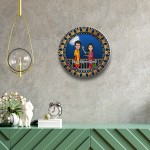 Karwa Chauth decor wall plate with table stand
