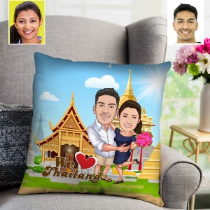 Personalized Thailand Toon Couple Cushion