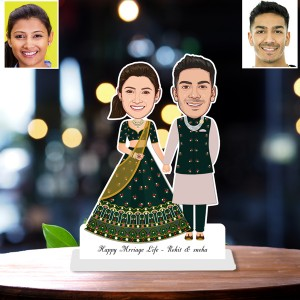 Personalized Wedding Toon Couple Caricature Photo Stand In