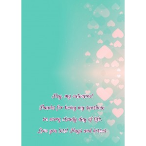 Personalized Valentine Greeting Card 018 backview