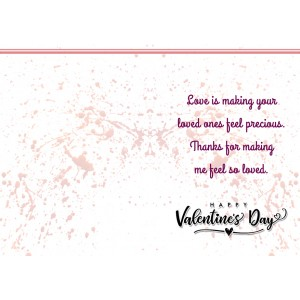 Personalized Valentine Greeting Card 019 backview