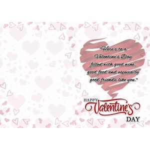 Personalized Valentine Greeting Card 022 backview