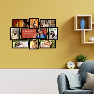 Wooden printed photo collage WC-001 backview
