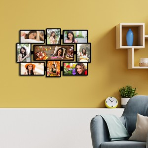 Personalised Birthday 9 photo  Wooden collage Wall hanging  backview