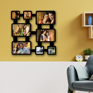 Wooden printed photo collage WC-004 backview
