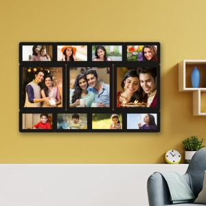 Wooden printed photo collage WC-005 backview