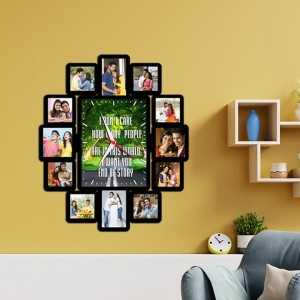 Wooden printed photo collage With Clock WC-001 backview
