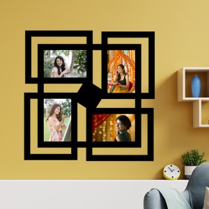 Wooden printed photo collage WC-009 backview