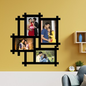 Wooden printed photo collage WC-010 backview