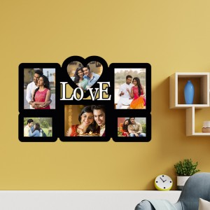 Wooden printed photo collage WC-012 backview