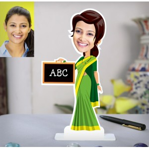 ABC lady teacher personalized caricature Photo Stand In