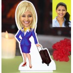 Air Hostess Caricature Photo Stand In