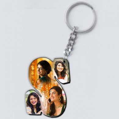 Alphabet Key ring - personalized with any letter with images