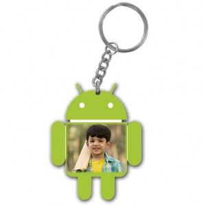 Android designed personalised acrylic key ring gift