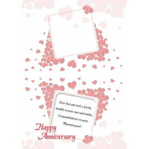 Personalized Anniversary Greeting Card 001 backview