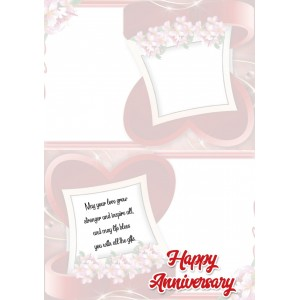 Personalized Anniversary Greeting Card 002 backview
