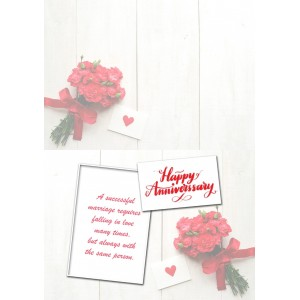 Personalized Anniversary Greeting Card 005 backview